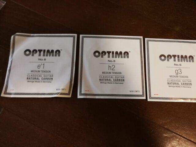 オプティマ No.6 のカーボン弦 高音セット