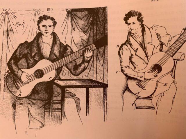 フェルナンド・ソルの時代のギターの構え方