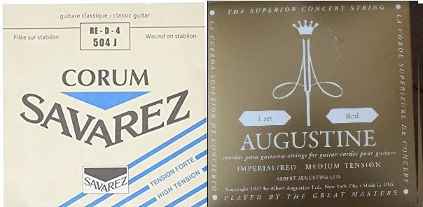 村治佳織が使っているクラシックギター弦: オーガスチン・インペリアルとサバレス・コラムのセット