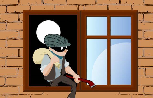 ギターを盗む泥棒