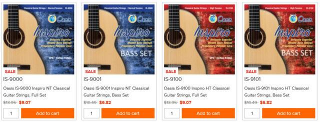 Oasisのクラシックギター弦「Inpsiro」